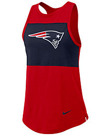 Nike Women's New England Patriots Racerback Colorblock Tank