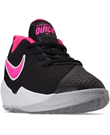 Nike Big Girls Team Hustle Quick 2 Basketball Sneakers from Finish Line