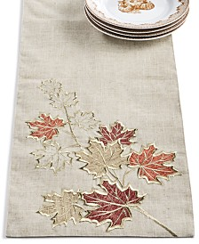 Elrene Metallic Branches Table Runner
