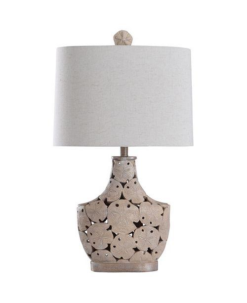 StyleCraft Porthaven 32in Cast Sand Dollar Coastal Table Lamp