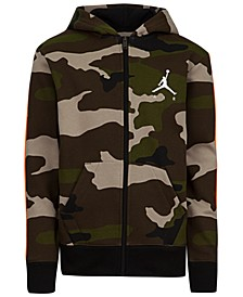 Big Boys Camouflage Zip-Up Hoodie