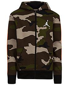 Jordan Big Boys Camouflage Zip-Up Hoodie