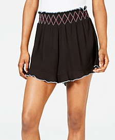 Juniors' Ruffle-Edge Cover-up Shorts, Created for Macy's