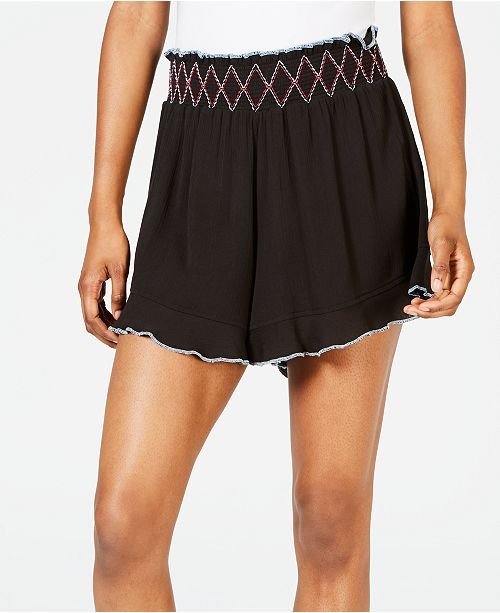 Miken Juniors' Ruffle-Edge Cover-up Shorts, Created for Macy's
