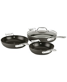 All-Clad Essentials Nonstick 4-Pc. Skillet Set