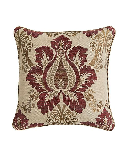 """Croscill Esmeralda 18"""" x 18"""" Square Pillow"""