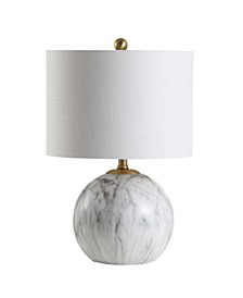 "Luna 21.5"" Faux Marble Resin LED Table Lamp"