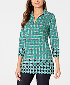 Printed Collared Tunic, Created for Macy's