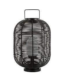 """Kandella 26.7"""" Outdoor Woven Oval Asian LED Lantern"""