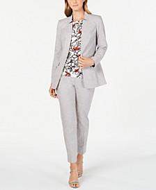 Star-Neck Jacket, Printed Pleat-Neck & Straight-Leg Pants