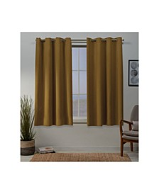 "Sateen Twill Woven Blackout Grommet Top 52"" X 63"" Curtain Panel Pair"