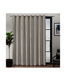 "Forest Hill Patio Woven Blackout Grommet Top Single Curtain Panel, 108"" x 84"""