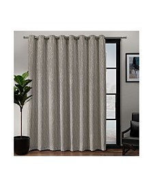 "Exclusive Home Forest Hill Patio Woven Blackout Grommet Top 108"" X 84"" Single Curtain Panel"