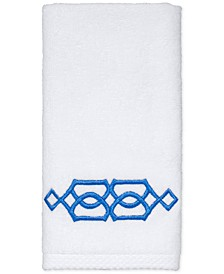 "CLOSEOUT! Geo Cotton 12"" x 18"" Fingertip Towel"