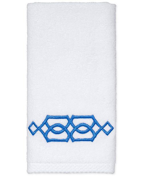 "Avanti  CLOSEOUT! Geo Cotton 12"" x 18"" Fingertip Towel"