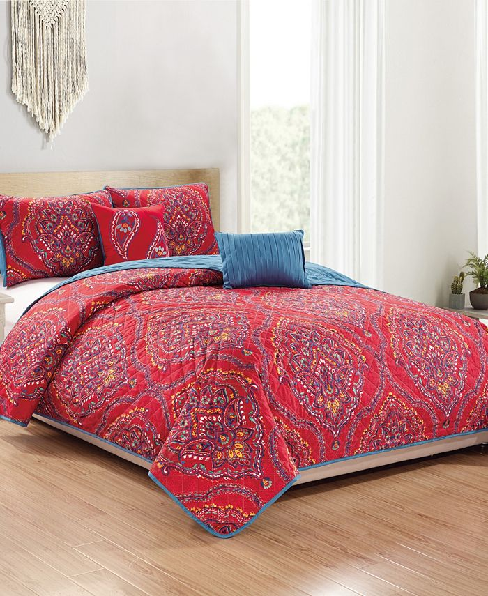 RT Designers Collection - Jayna 5-Piece Quilt Set - King