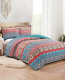 Alexis 3-Piece Reversible Quilt Set - Queen
