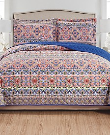 Giselle 3-Piece Reversible Quilt Set - Queen