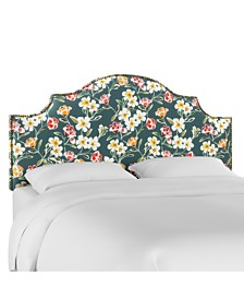 Vegas Rendle Queen Nail Button Notched Headboard, Quick Ship
