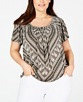 how to buy high fashion top-rated official Style & Co Plus Size Tops - Macy's