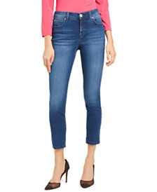 I.N.C. Petite Skinny Tummy-Control Ankle Jeans, Created for Macy's