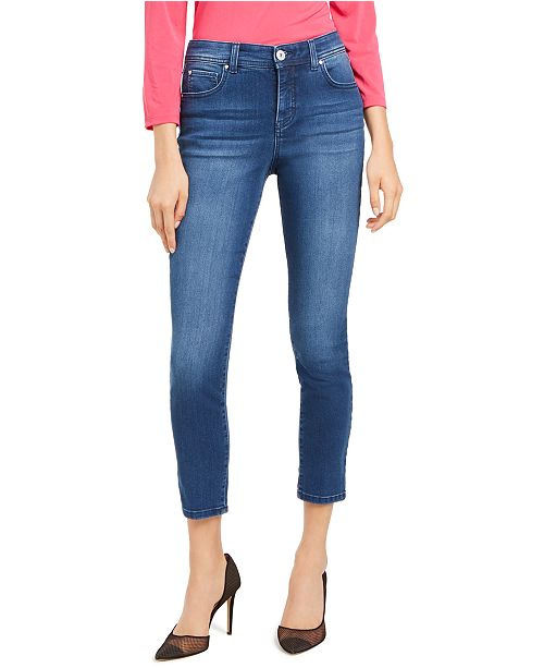 INC International Concepts INC Skinny Ankle Jeans with Tummy Control, Created for Macy's