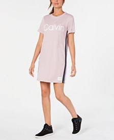 Calvin Klein Performance Logo Ombré-Stripe Sneaker Dress