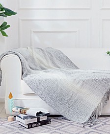 Gray Ombre Throw Blanket