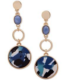 DKNY Crystal & Stone Linear Drop Earrings