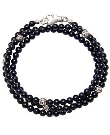 Nialaya The Mykonos Collection - Matte Onyx and Silver