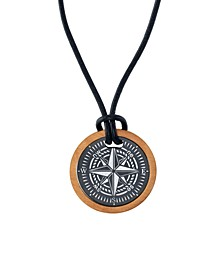 "Two-Piece Compass 24"" Pendant Necklace in Stainless Steel"