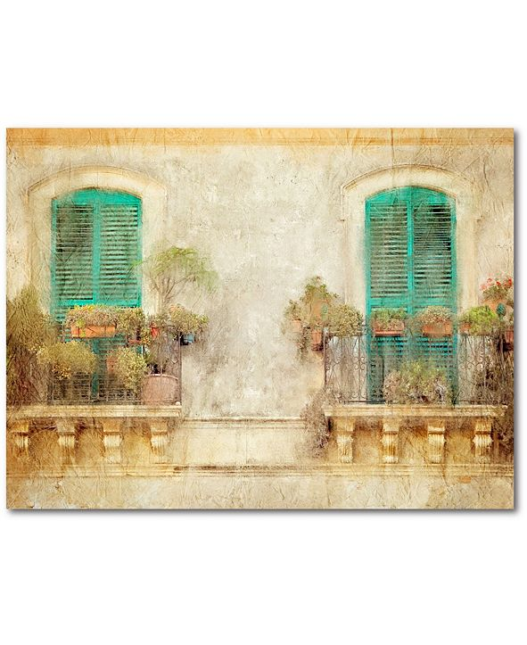 """Courtside Market From The Balcony 16"""" x 20"""" Gallery-Wrapped Canvas Wall Art"""