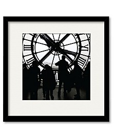 Large Clock Framed and Matted Art Collection