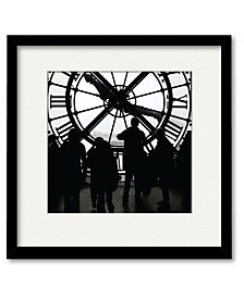 Courtside Market Large Clock Framed and Matted Art
