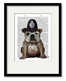 Bulldog Policeman Framed and Matted Art Collection