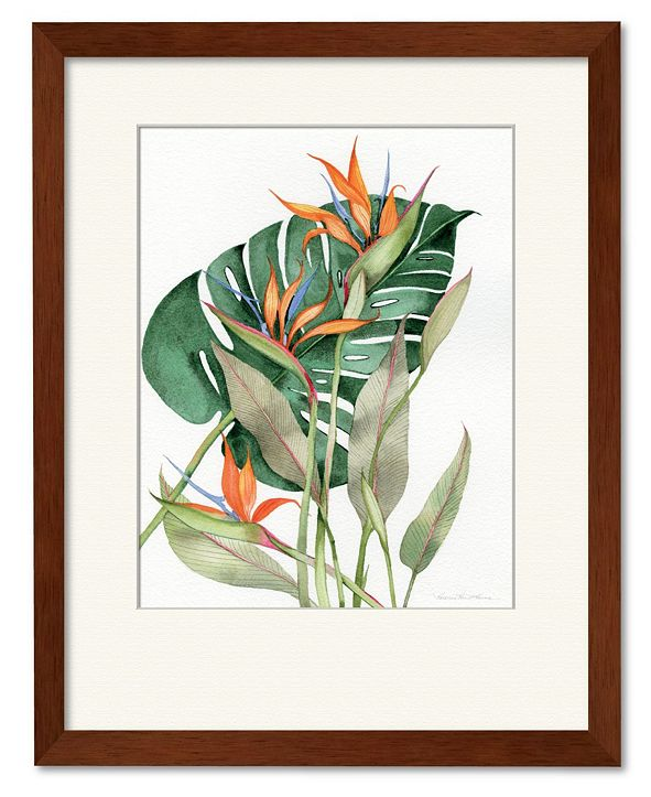 "Courtside Market Botanical Birds of Paradise 16"" x 20"" Framed and Matted Art"