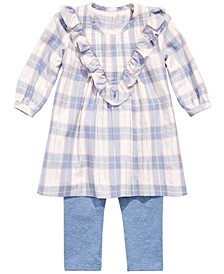 Baby Girl Ruffled Plaid Tunic & Leggings Set