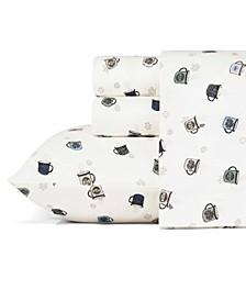 Camping Mugs Flannel Sheet Set, Full