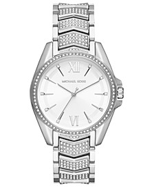 Women's Whitney Stainless Steel Pave Bracelet Watch 38mm