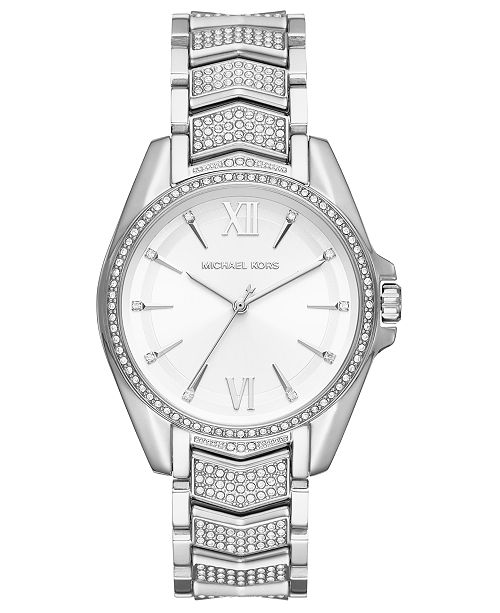 Michael Kors Women's Whitney Stainless Steel Pave Bracelet Watch 38mm