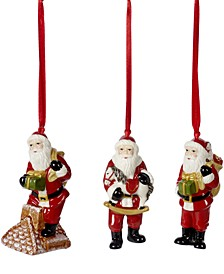Nostalgic Santa Claus Ornaments, Set of 3