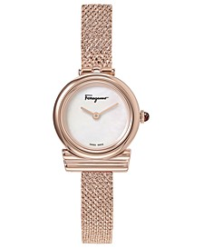 Women's Swiss Gancino Rose Gold-Tone Stainless Steel Bracelet Watch 22mm