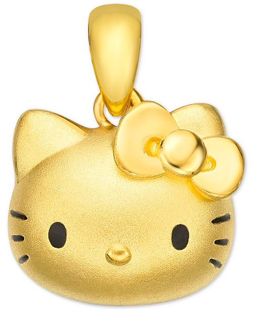 Chow Tai Fook Hello Kitty Pendant in 24k Gold