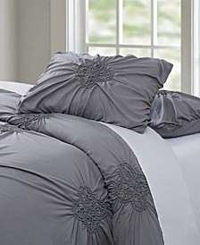 Christian Siriano Georgia Rouched 3 Piece Full/Queen Comforter Set