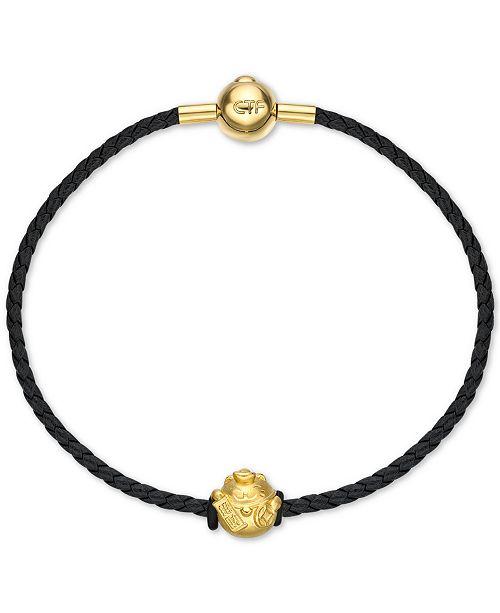 Chow Tai Fook Fortune Cat Braided Bracelet in 24k Gold