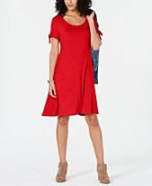 5346db6cc254 Style & Co Tie-Sleeve Dress, Created for Macy's