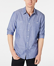Men's Micro Herringbone Shirt, Created for Macy's