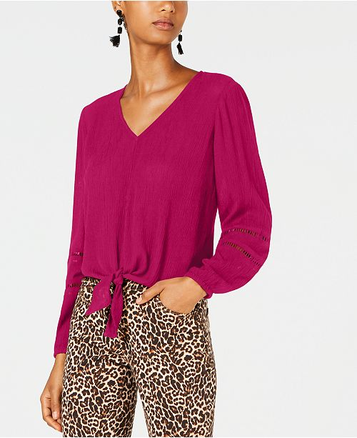 INC International Concepts INC Gauze Tie-Front Top, Created for Macy's
