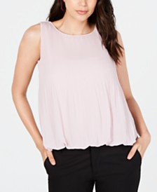 Alfani Pleated Bubble Top, Created for Macy's