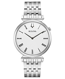 Bulova Men's Regatta Stainless Steel Bracelet Watch 38mm